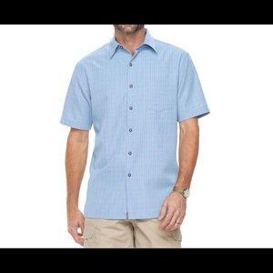 Croft /& Barrow Mens Classic Fit Dress Shirt Yellow Blue Check